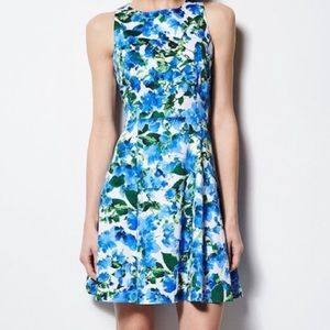Milly Sleeveless Watercolor Floral Sheath Dress